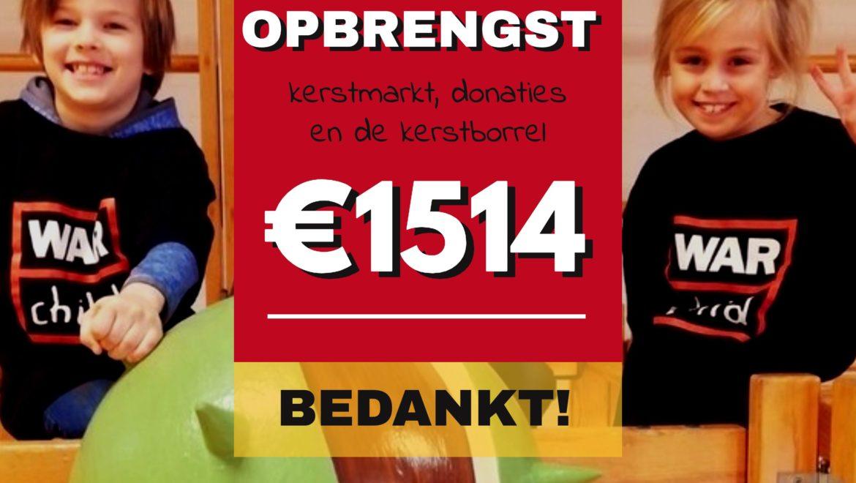 €1514 kerstopbrengst